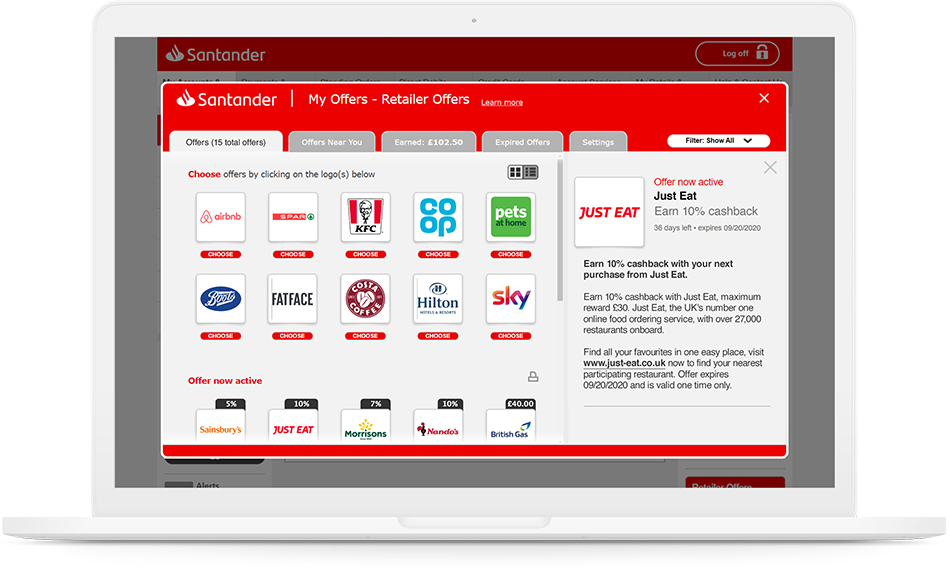 Santander Dashboard